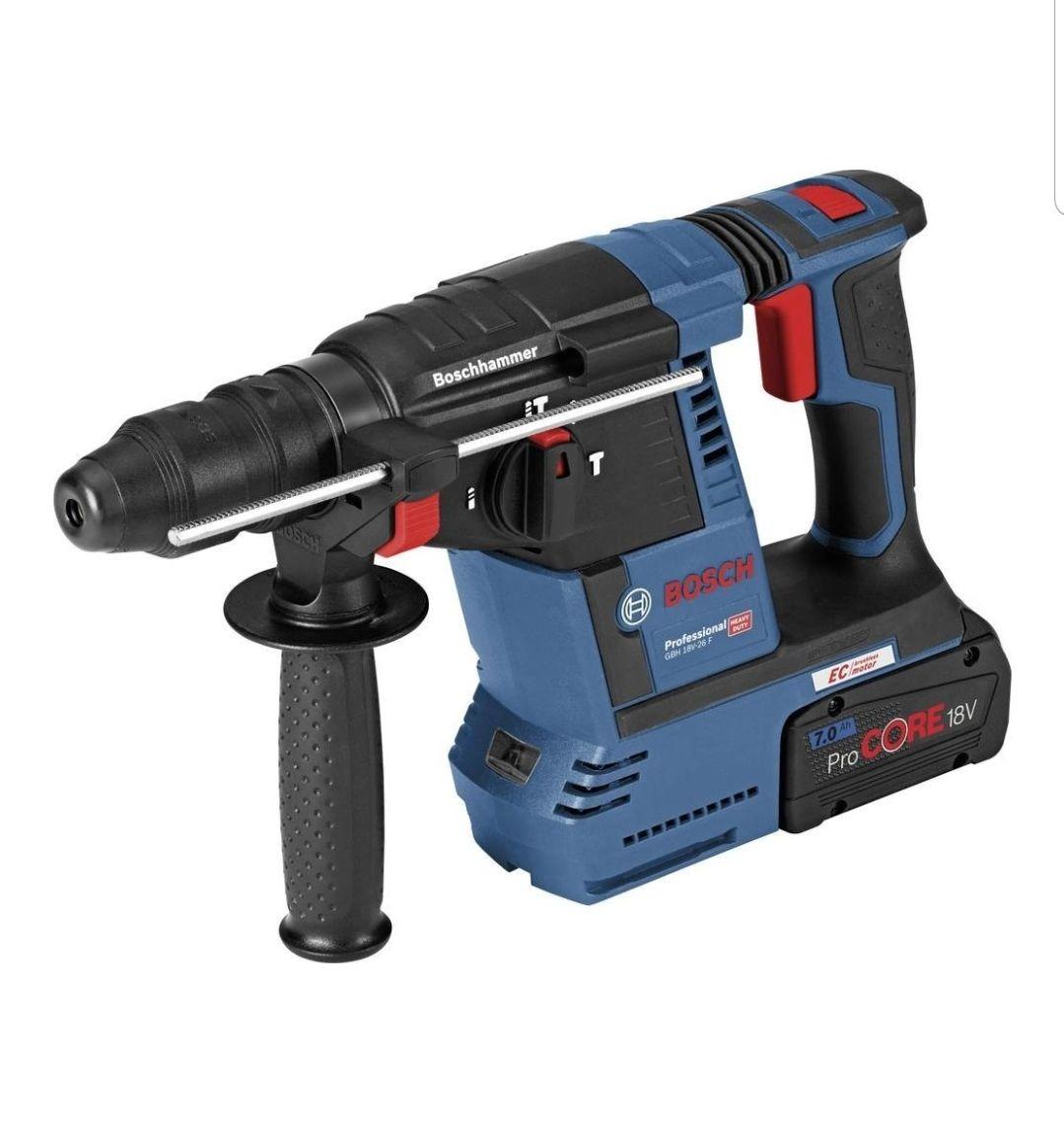 Bosch - Akku-Bohrhammer mit SDS plus GBH 18V-26 F mit 1 x 6.0 Ah Akku, ProCORE18V 8.0 Ah + gegebenenfalls Porto 4,90 €