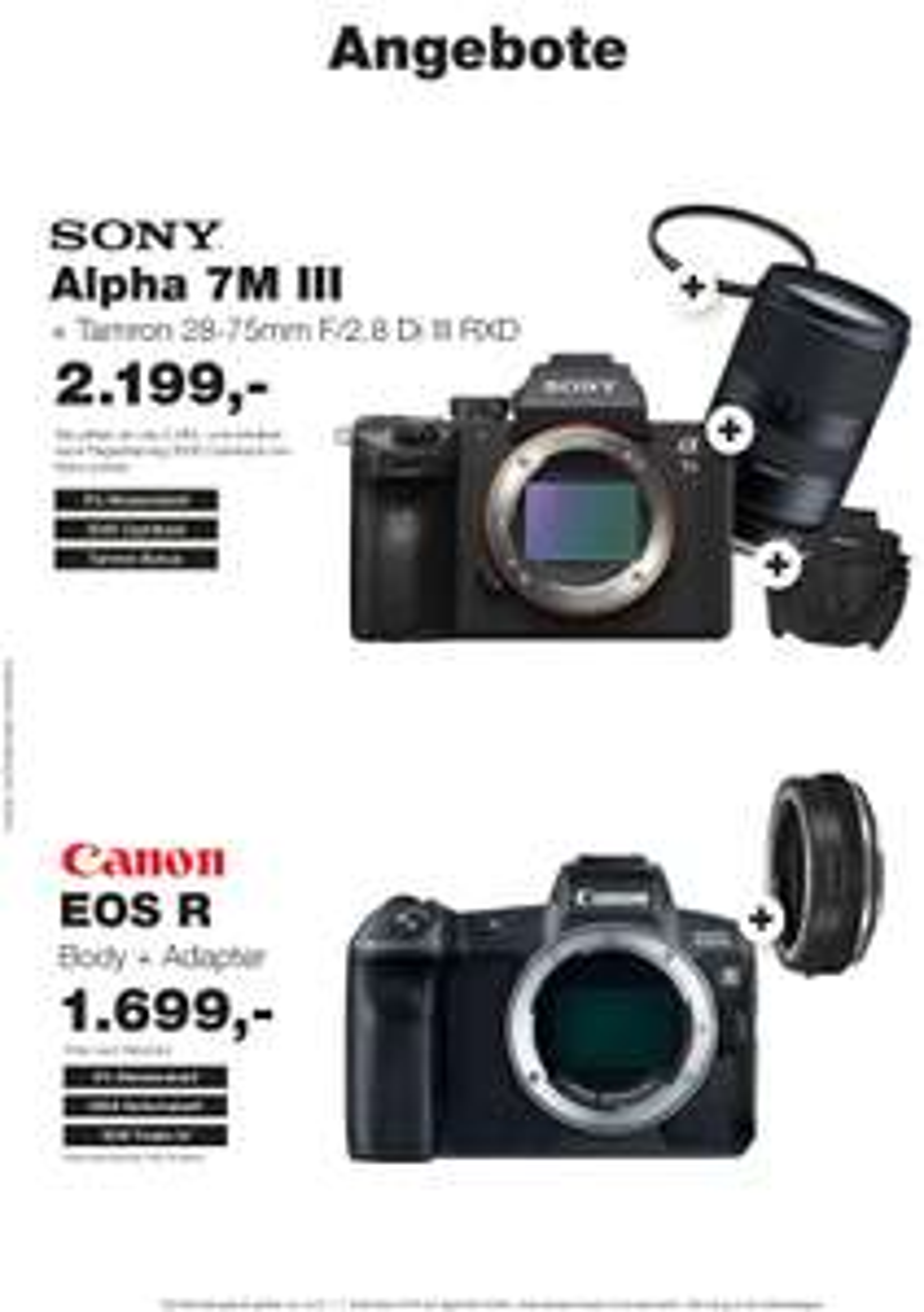 Canon EOS R Body + EF to RF Adapter für 1699,00 [Lokal und Versand] Foto Hamer