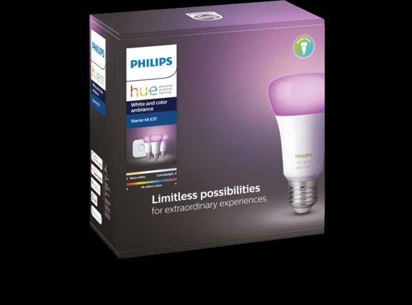 PHILIPS Hue White & Color Ambience E27 Starter Set, Bluetooth