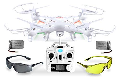 Syma X5C Explorer UPGRADE Weiße SafeFly Sonder-Edition 3D Quadrocopter Drohne mit 3.6 MP HD Kamera