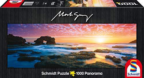 [Amazon Prime] Schmidt Spiele 59289 - Mark Gray, Panoramapuzzle, Bridgewater Bay Sunset, Victoria, Australia, 1000 Teile