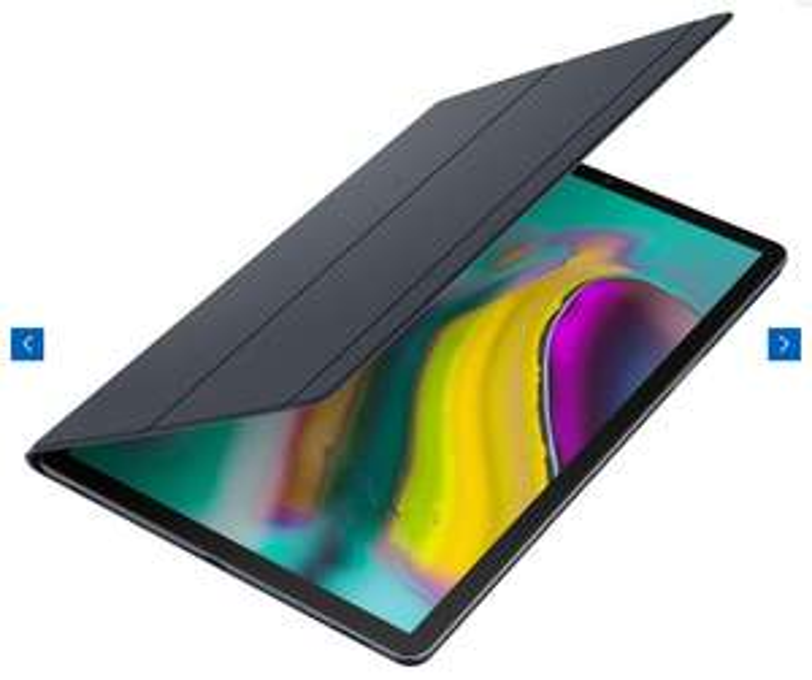 Wieder verfügbar! Samsung Galaxy Tab S5e (64GB) WiFi in silber & schwarz + Book Cover (schwarz)