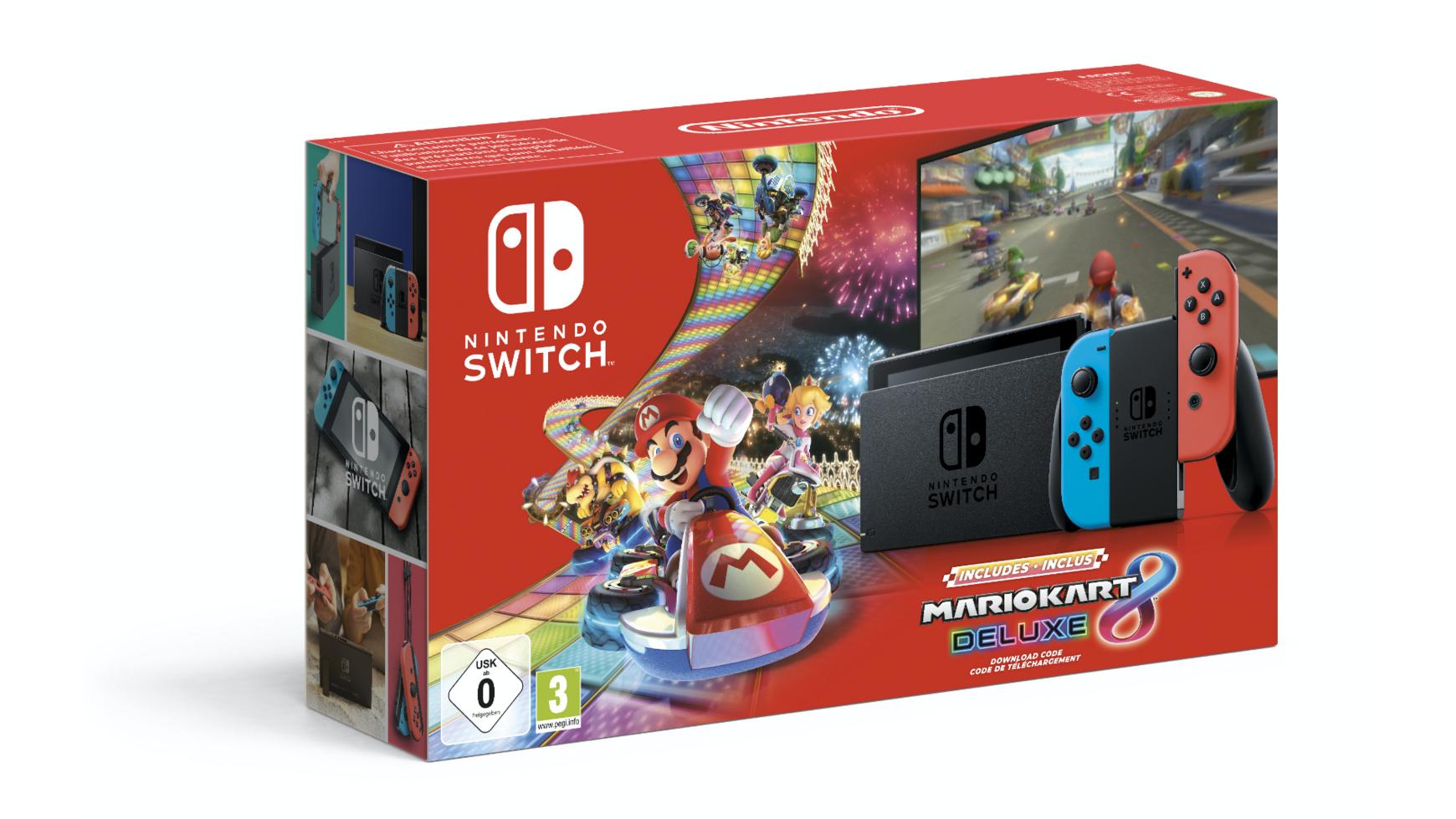 Nintendo Switch + Mario Kart Bundle (Spiel als Download)