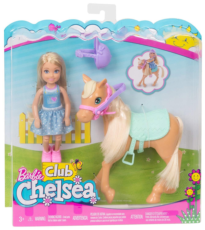 [Amazon Prime] Barbie DYL42 Chelsea und Pferd, Mehrfarbig