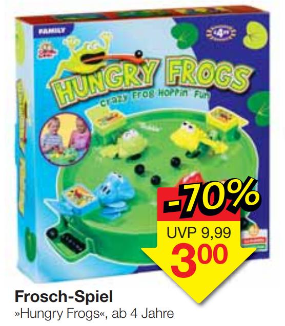 """Gesellschaftsspiel """"Hungry Frog"""" ab 4 Jahren bei Jawoll für 3,00€ bis zum 10.12.2019"""