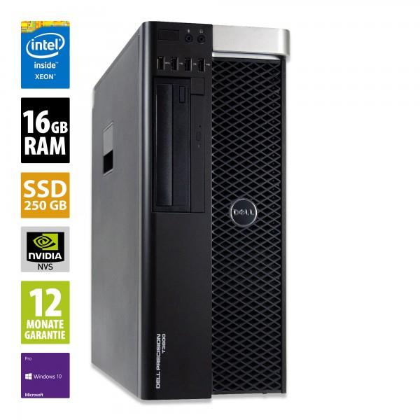 Dell Precision T3600 (Intel Xeon E5-1620, 16GB DDR3 RAM, 250GB SSD, Nvidia NVS 310 1GB, 2x DisplayPort, 2x USB 3.0, 8x USB 2.0) [gebraucht]