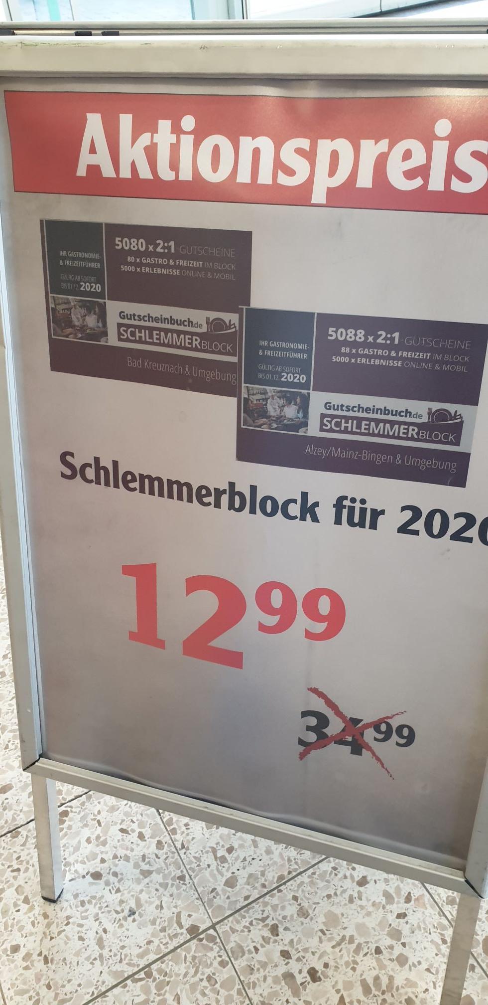 Schlemmerblock - Gutscheinbuch [lokal Globus Gensingen]