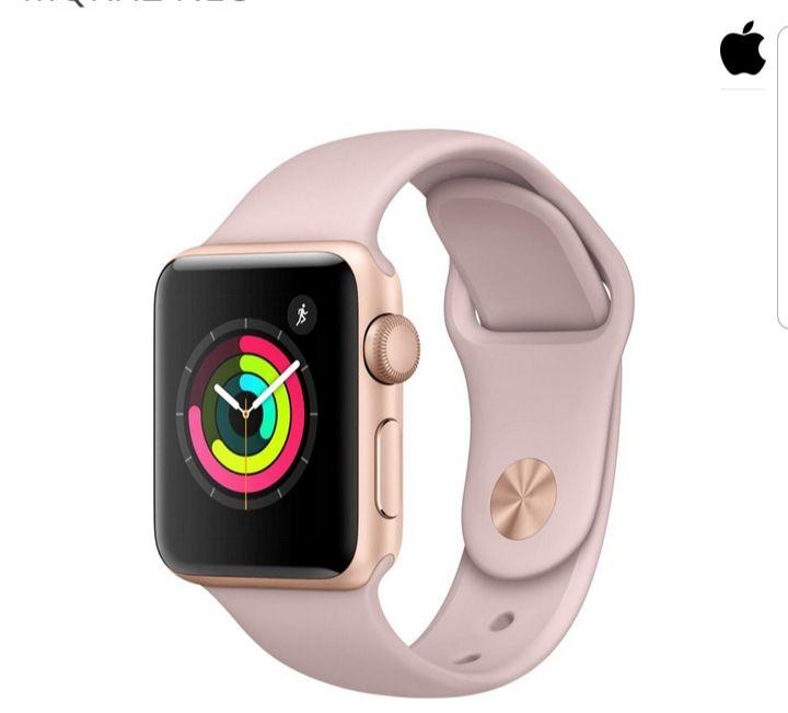 Apple Watch Series 3 GPS Cellular Gold Aluminium 38mm Sand Sport Pink MQKH2 NEU
