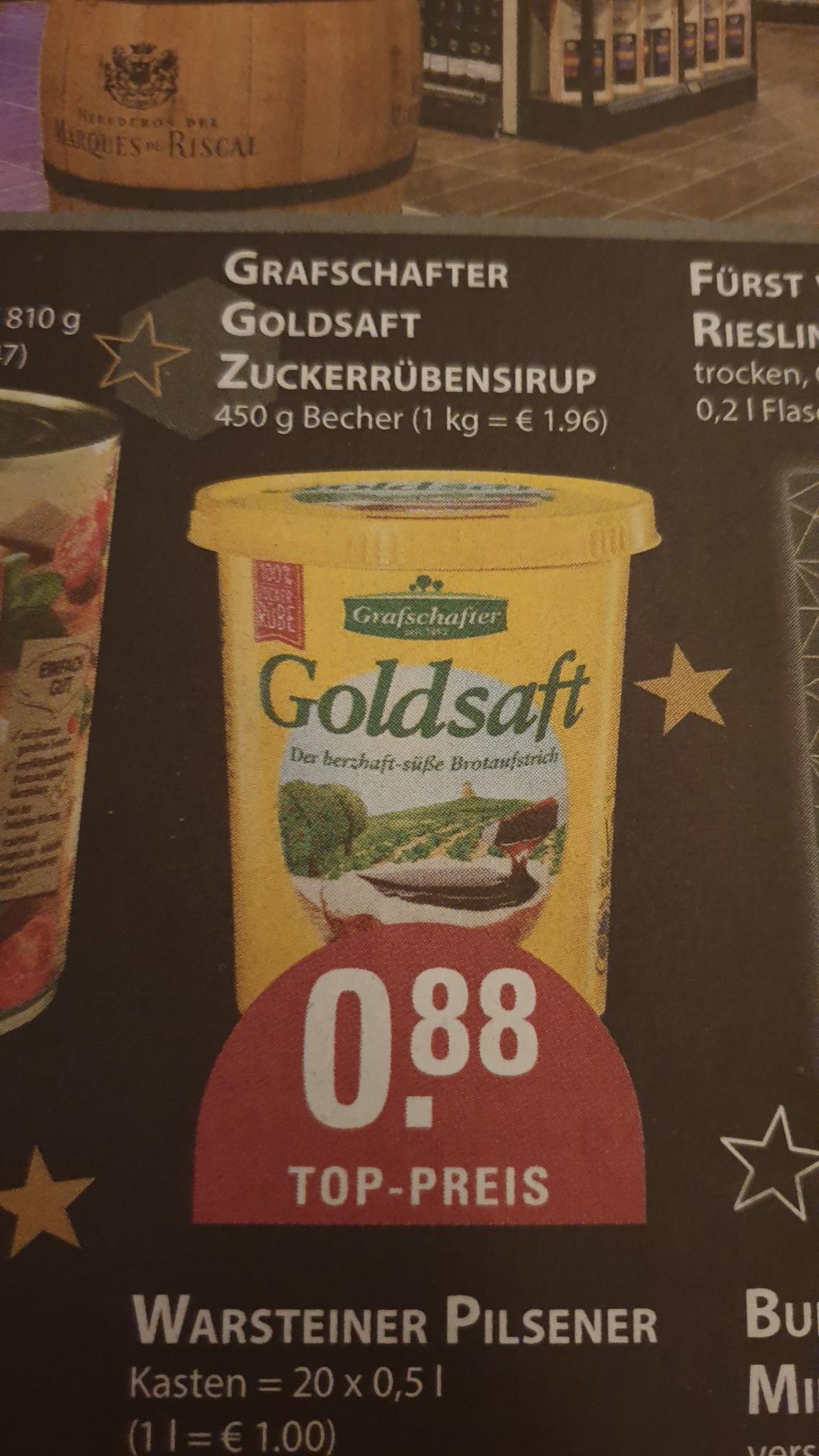 Grafschafter Goldsaft Zuckerrübensirup (Edeka Burkowski in Essen und Bochum)