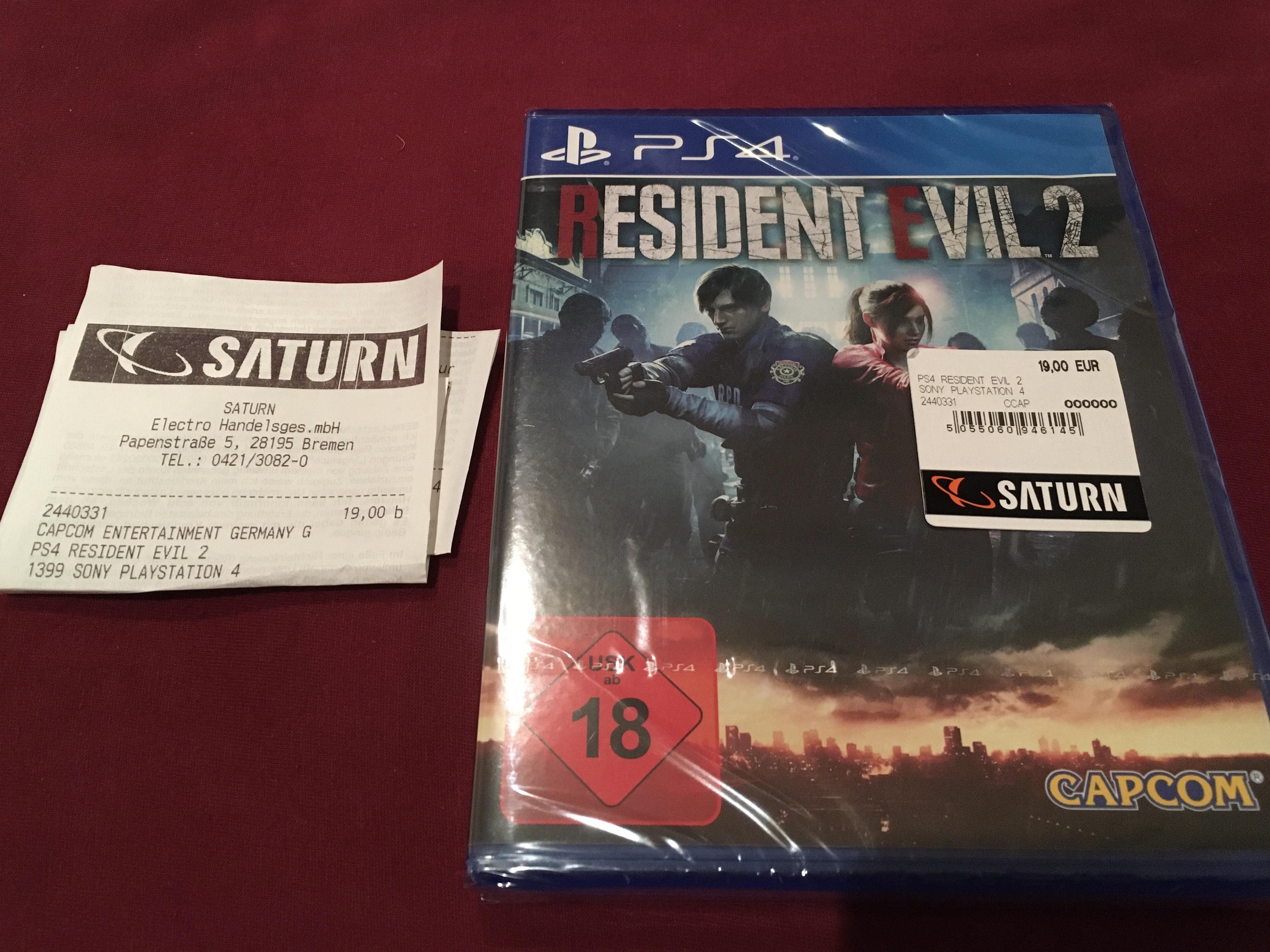 [Lokal Bremen] Resident Evil 2 Remake PS4 für 19€