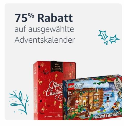 Lokal (München/Berlin) Amazon PrimeNow 75% auf ausgewählte Adventskalender