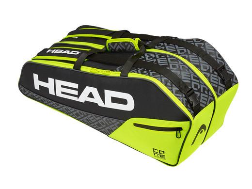 """HEAD Tennistasche """"Core 6R Combi"""" (76 x 32 x 28 cm, 2 Fächer für bis zu 6 Tennisschläger) [iBOOD]"""