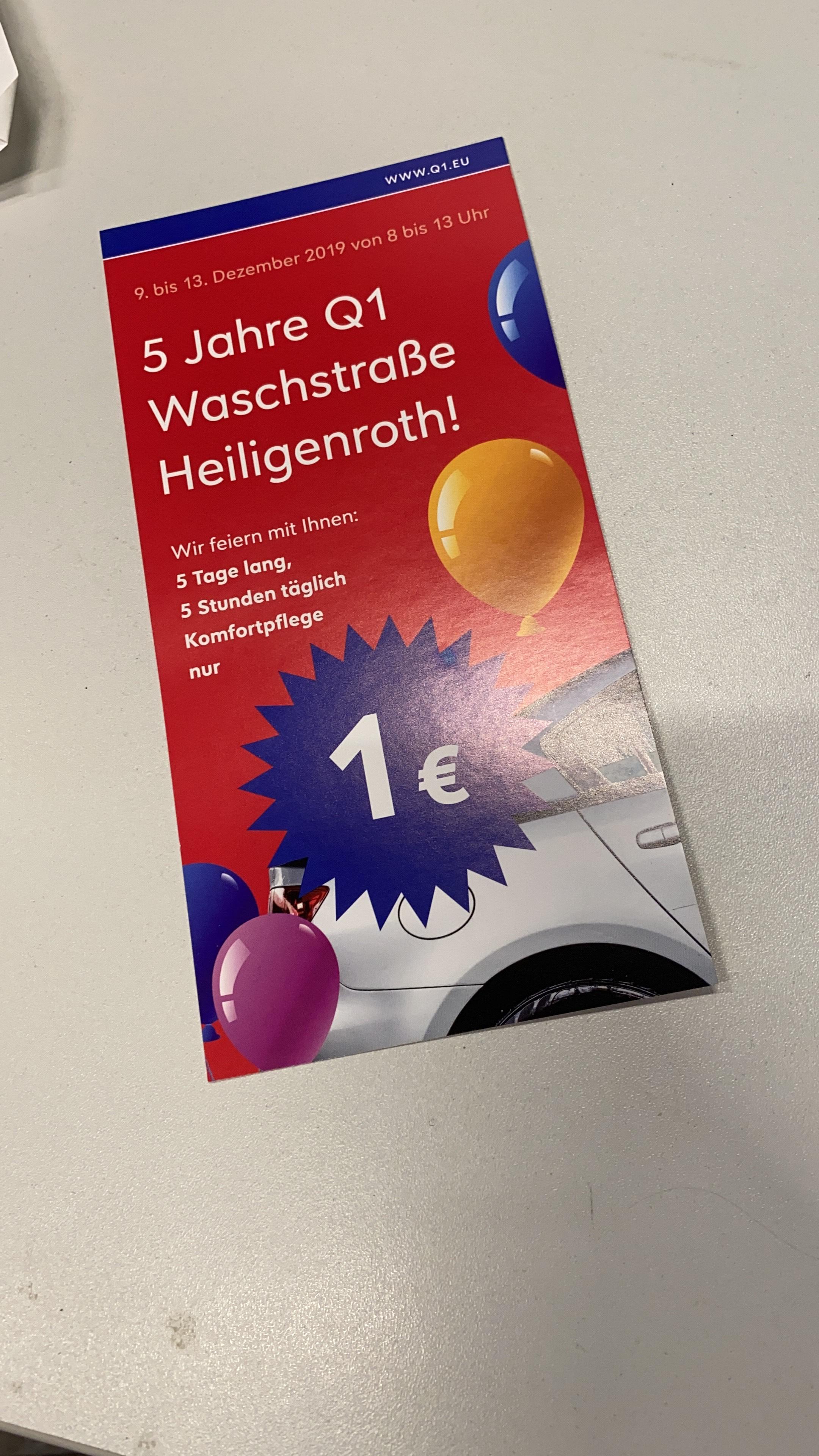 Lokal Heiligenroth - Komfortwäsche 1€ Autowäsche