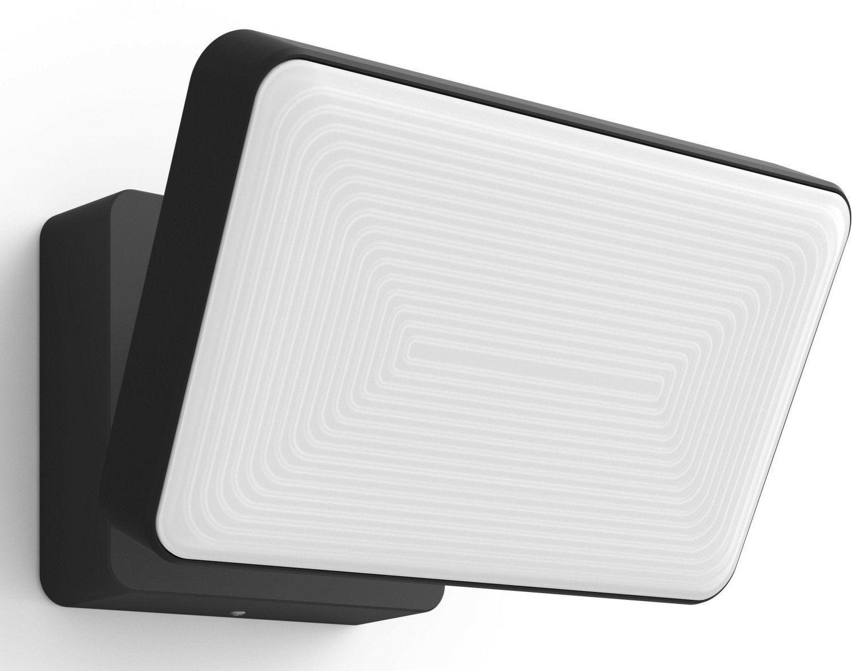 Philips Hue White LED Welcome Flutlicht für den Aussenbereich, dimmbar, warmweißes Licht, steuerbar via App, kompatibel mit Amazon Alexa