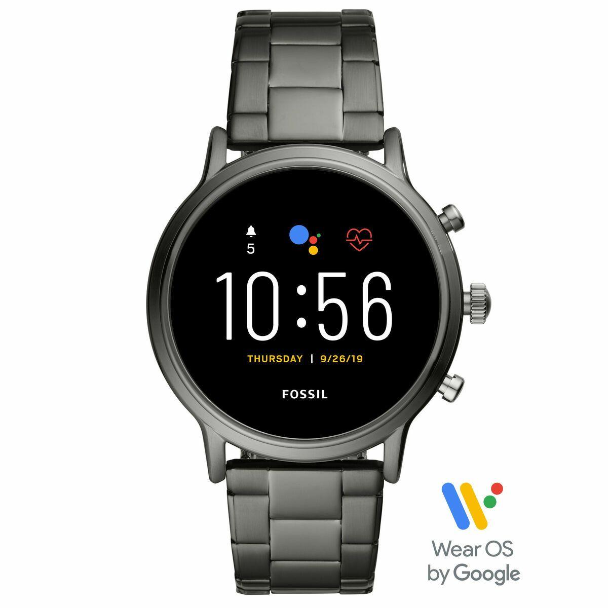 """Fossil Smartwatches Herren Touchscreen Smartwatch Carlyle HR 5. Generation """"FTW4024"""""""