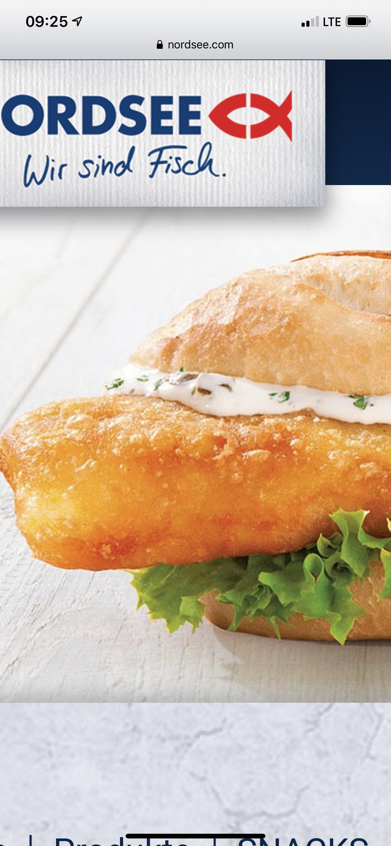 Küstenbackfisch-Baguette für 1,99 bei der Nordsee Bremen Hbf