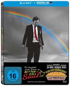 Better Call Saul - Die komplette zweite Staffel Limited Steelbook Edition (Blu-ray + UV Copy) für 10,93€ (Alphamovies)