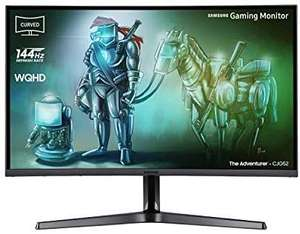 Samsung (32 Zoll), WQHD, Curved Gaming Monitor (HDMI, DisplayPort, 3,5 mm Audio, 4ms Reaktionszeit (G/G), 144 Hz) [Amazon]
