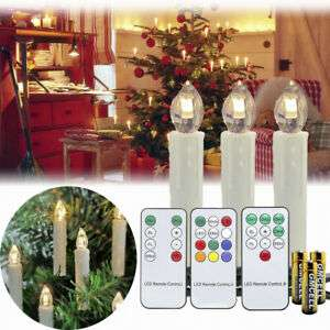 EBAY - Kabellose LED Weihnachtskerzen 1~100X Christbaum Kerzen Lichterkette Party Timer