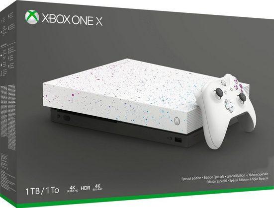Microsoft Xbox One X 1TB Hyperspace Special Edition + 3 Mon. Game Pass Ultimate für 299€ / für Erstbesteller 267,05€ möglich!