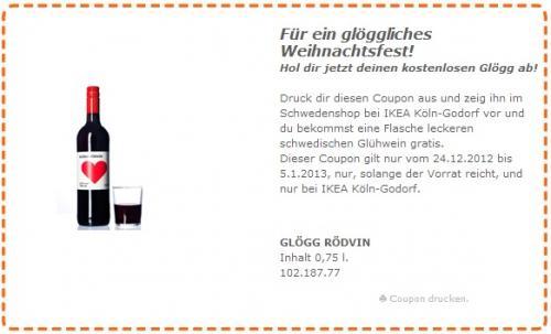 [LOKAL] Gratis Flasche Glühwein im IKEA Godorf