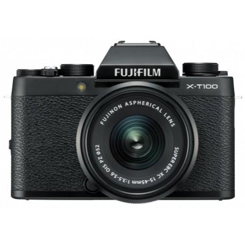 Fujifilm X-T100 + XC 15-45 mm + XC 50-230 mm schwarz [inkl. Cashback 499 €]