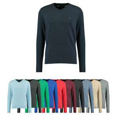 Tommy Hilfiger Herren Woll-Pullover V Neck Strickpulli in Verschiedenen Farben