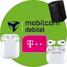 mobilcom debitel Telekom green Data XL (15GB LTE) mtl. 17,99€ + AirPods 2 4,99€ ZZ, AirPods Pro 119€ ZZ, Sonos One 59€ ZZ bzw. One SL 49€ ZZ