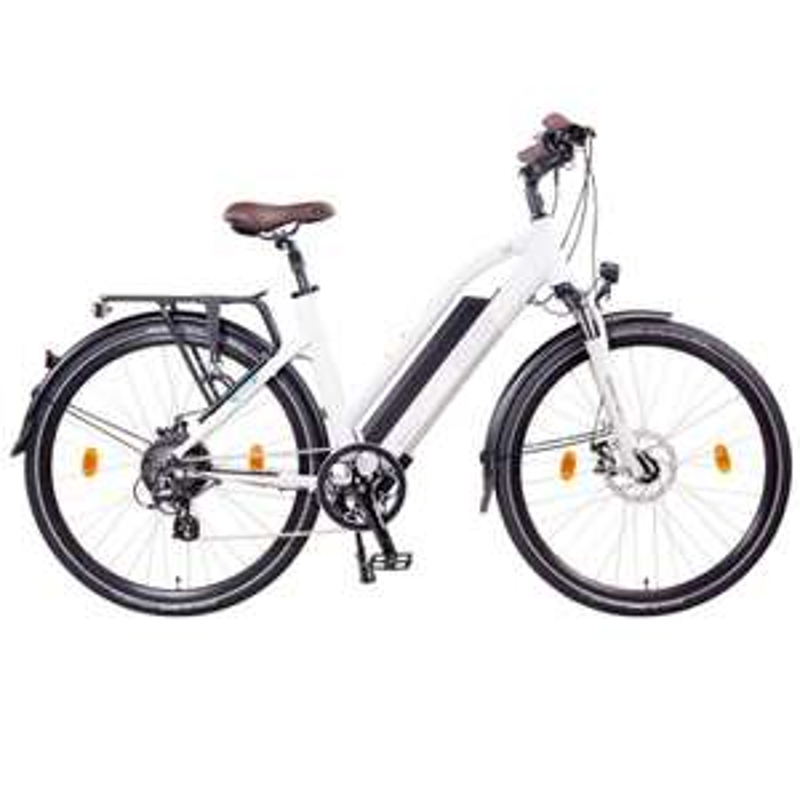 """NCM Milano 28"""" E-Bike, Urban Trekkingbike, weiß"""