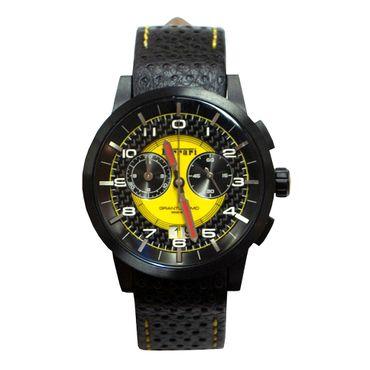 Armbanduhr Scuderia Ferrari Granturismo 270033669 (Quarzwerk, Mineralglas, 43mm Durchmesser, Echtlederarmband, bis 5bar wasserdicht)