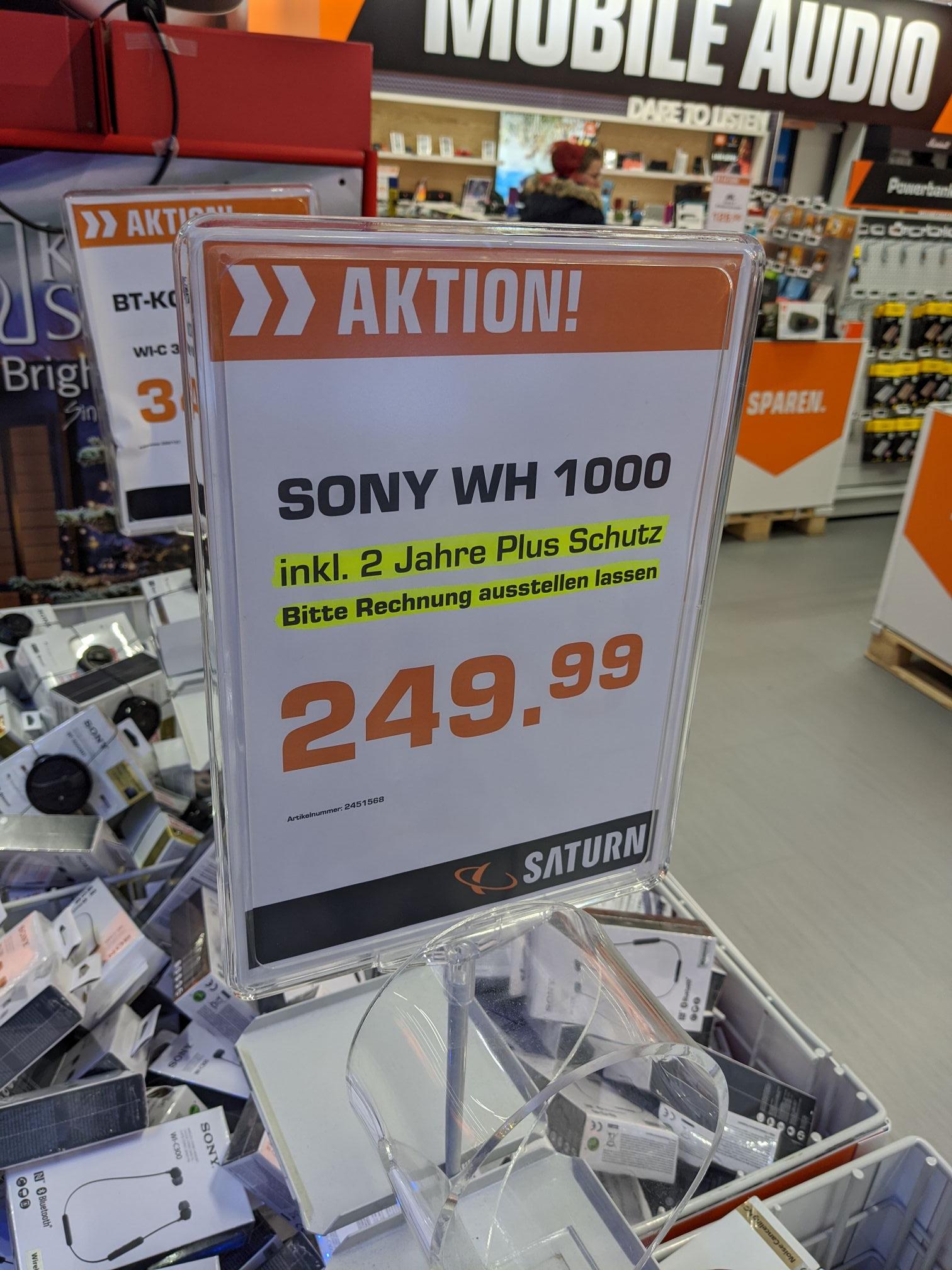 Sony WH-1000XM3 inkl. 2 Jahre Plus Schutz im Saturn Köln City [Lokal]