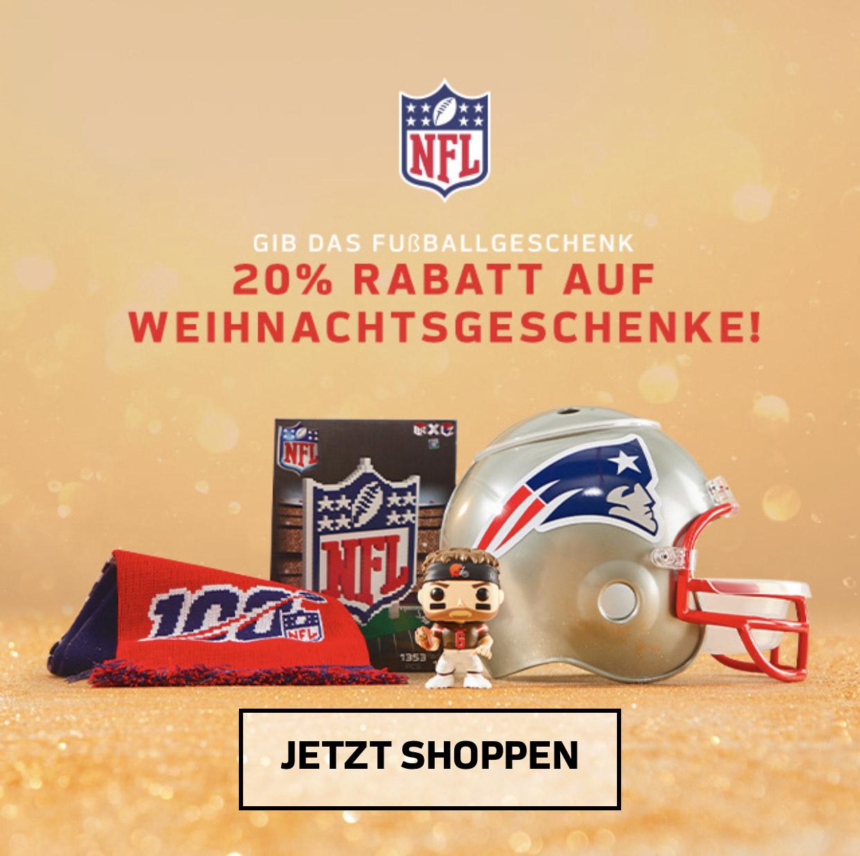 20% auf NFL Artikel