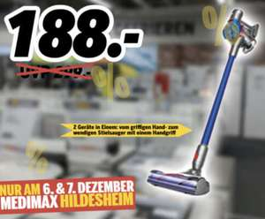 Lokal Medimax Hildesheim: Dyson V7 Motorhead Akku Handstaubsauger für 188€