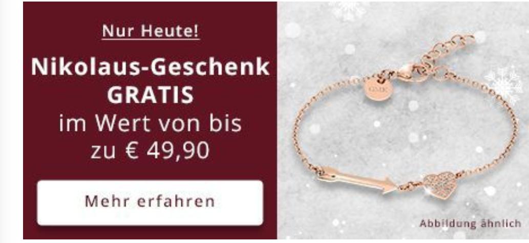 Juwelier Christ Gratis Produkt (Armband) bei einem Einkauf ab 69€