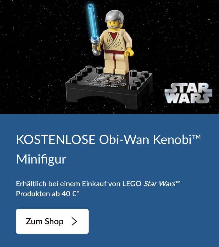 Lego Shop Obi-Wan Kenobi Minifigur ab 40€ gratis