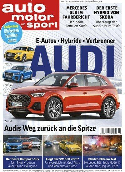 Auto Motor und Sport Abo (27 Ausgaben) für 109,20 € mit einem 90 € Amazon-Gutschein / BestChoice-Gutschein/ oder 8500° + 70° Payback Punkte