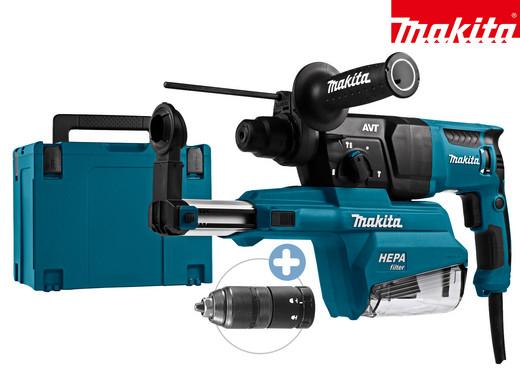 """[iBOOD] Makita SDS+ Bohrhammer mit Absaugvorrichtung """"HR2651TJ"""" (SDS+, 800 Watt, Hepa-Filter, Schnellspannbohrfutter, Makpac)"""
