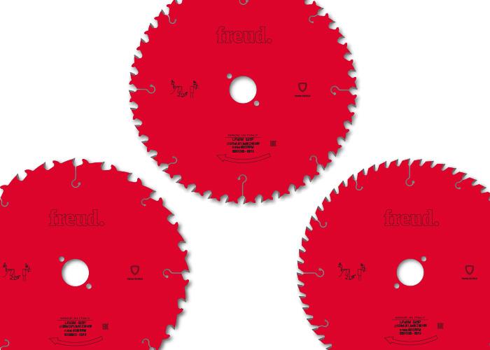 """Freud Kreissägeblätter-Set """"Die Roten"""" 250mm x 30mm / 24, 40, 60 Zähne"""