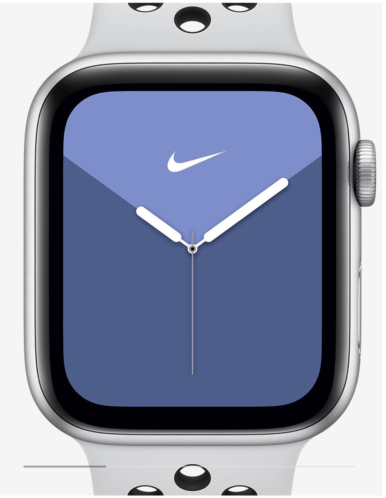 Apple Watch Series 5 Nike + 44mm in schwarz o. silber für eff. 427€