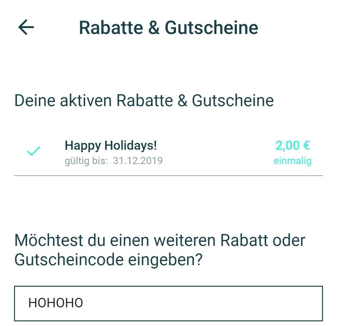 Pickpack Gutschein in der APP - 2€ gratis zum Nikolaus, ggf LOKAL In Berlin [Bestandskunden]