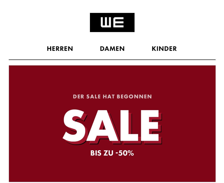 WE Fashion -Der Sale hat begonnen bis zu 70% Online & Filiale