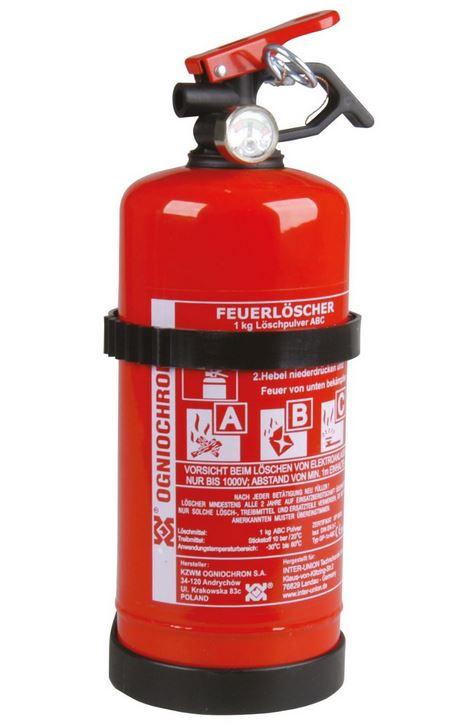 Unitec Feuerlöscher für KFZ (1 kg, ABC-Pulver, Mit Druckhebelventil + Manometer) *versandkostenfrei* [Globus-Baumarkt.de]