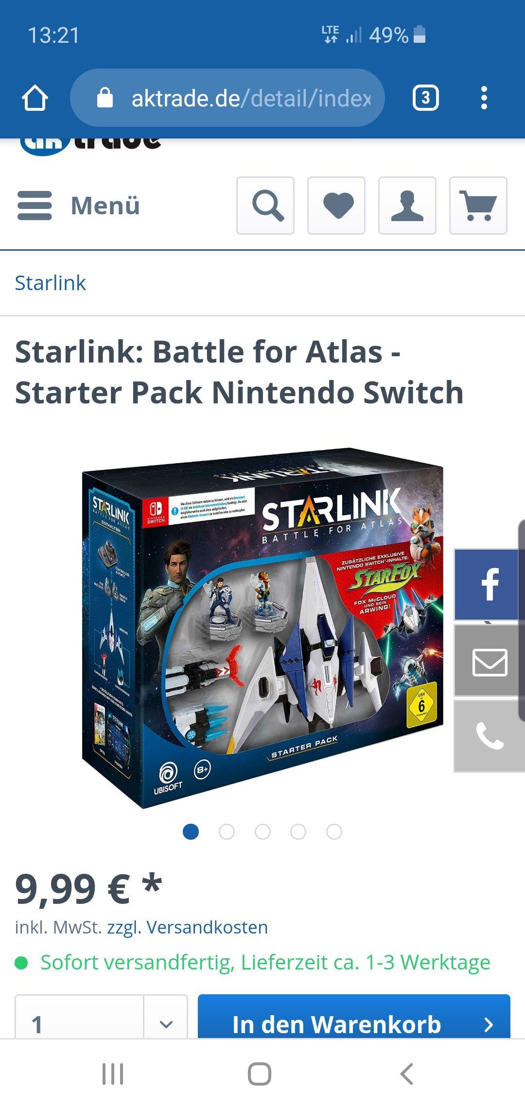 Starlink Starter Set f. Nintendo Switch