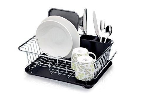 [prime] Kitchen Craft Abtropfgestell mit Abtropfschale, 42 x 30,5 x 15,5 cm