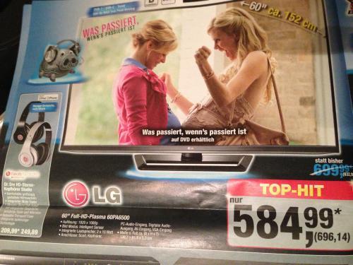 "LG 60PA6500 60"" Plasma"