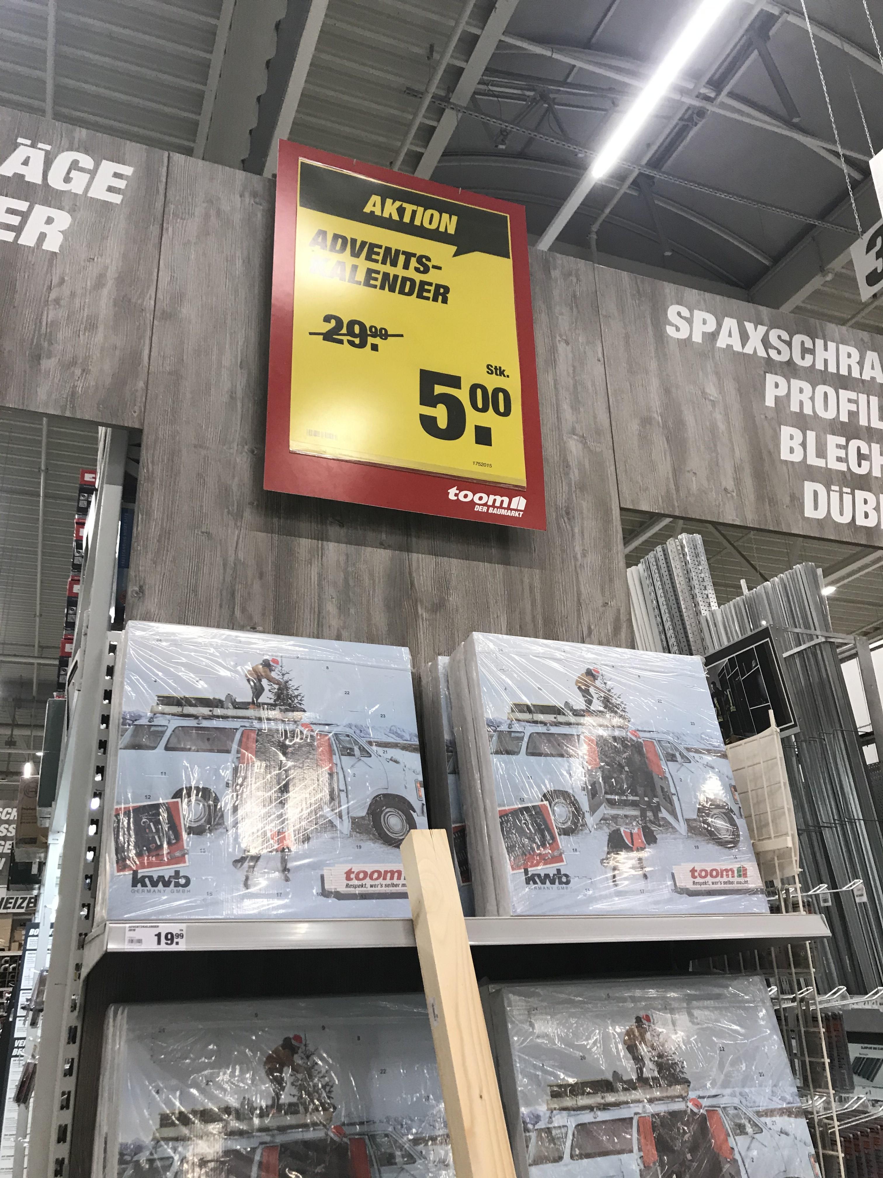 KWB Adventskalender für 5,00€ bei toom Leipzig Plagwitz (lokal?)