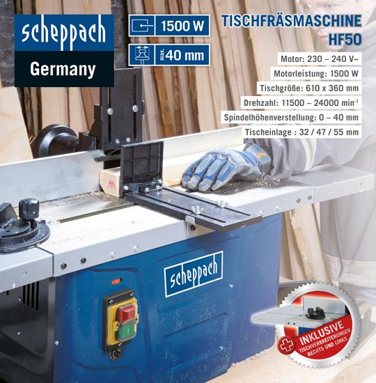 [Norma-Online] Scheppach Sammeldeal - Tischfräsmaschine HF50 - Bestpreis