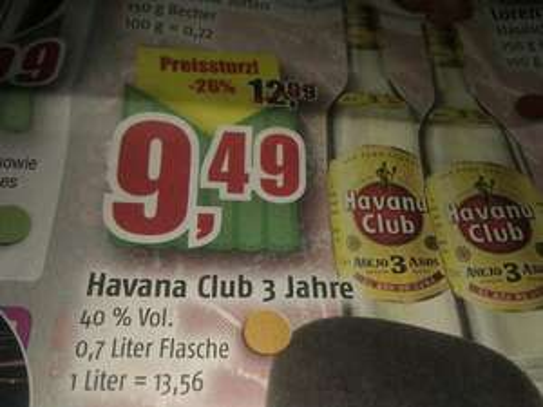 Havana Club 3 Jahre 9,49 bei Marktkauf Buxtehude vom 27.12. - 31.12.2012