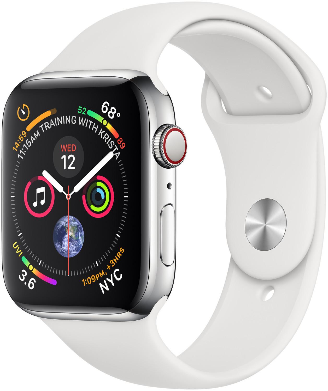 Apple Watch Series 4 LTE 44mm EDELSTAHLgehäuse mit Sportarmband Weiß für 379,90€ inkl. Versandkosten [Cyberport ebay]