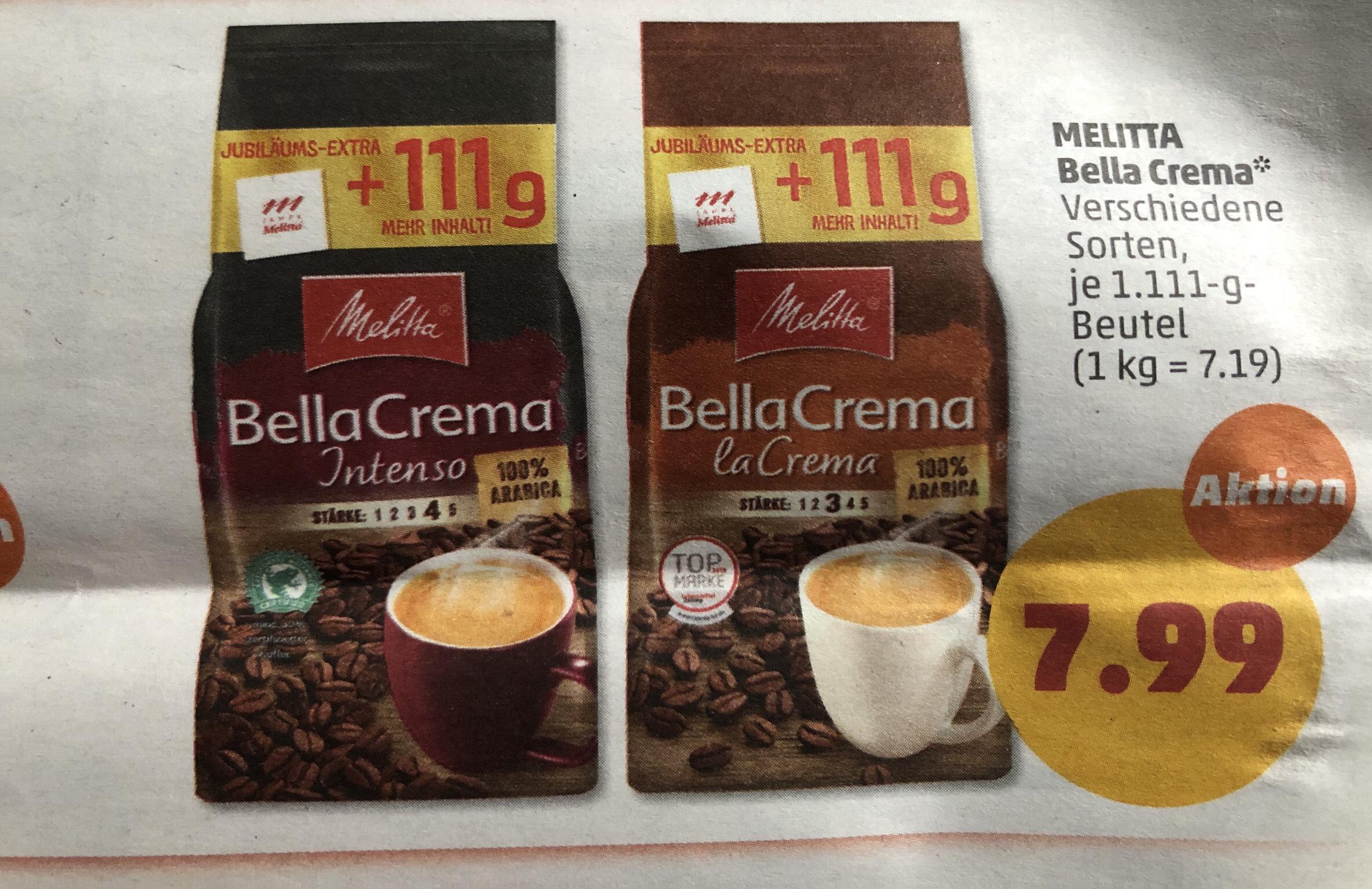 Melitta Bella Crema 1111 Gramm Penny